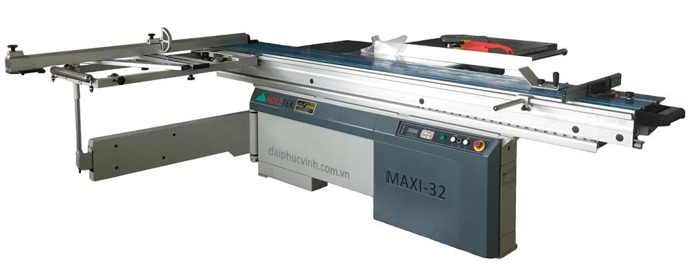 Máy cưa bàn trượt 2 lưỡi full options Maxi-32