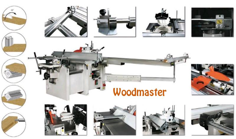 Máy cưa bào liên hợp Woodmaster 5 chức năng