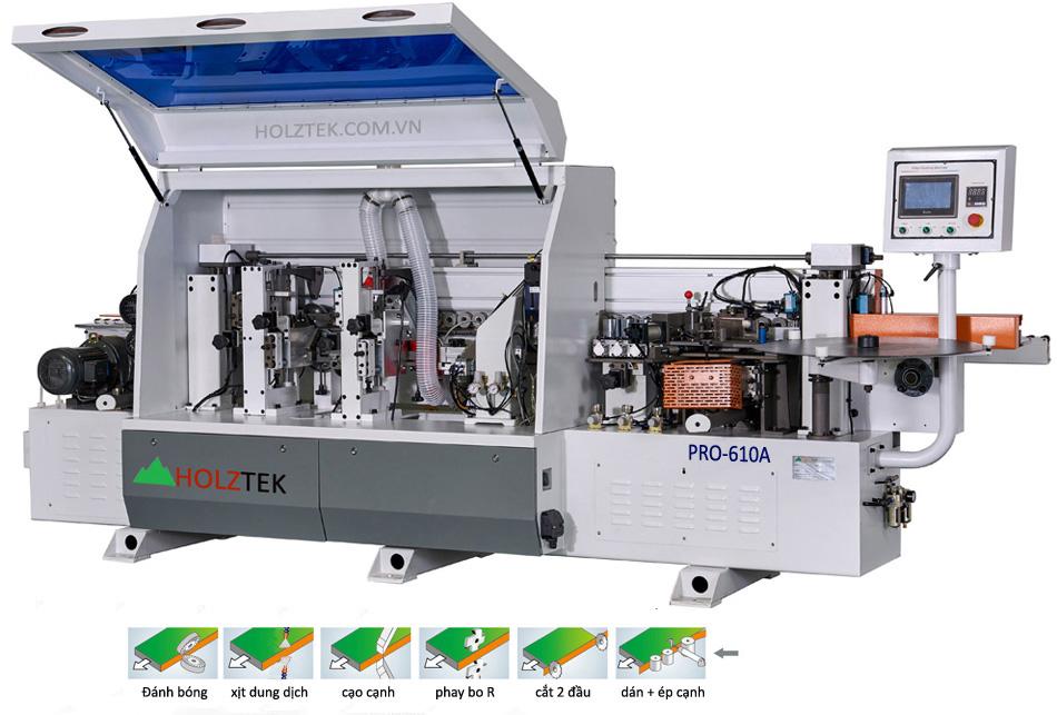 Máy dán cạnh tự động Pro-610A Holztek