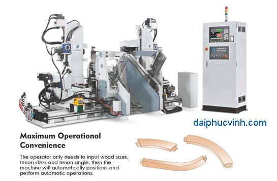 Máy làm mộng dương 2 đầu CNC