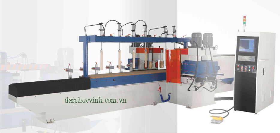 Máy phay tubi + chà nhám cnc 4 trục