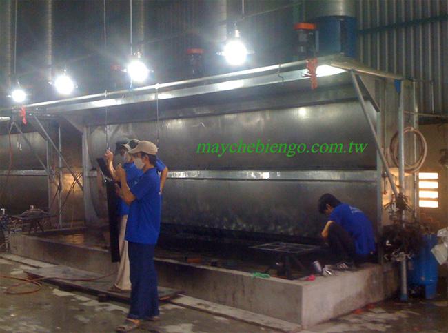 Tháp phun sơn 6m 2 màng nước