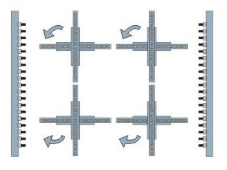 Máy khoan liên kết 4 giàn tự động Holztek Z88AT 214