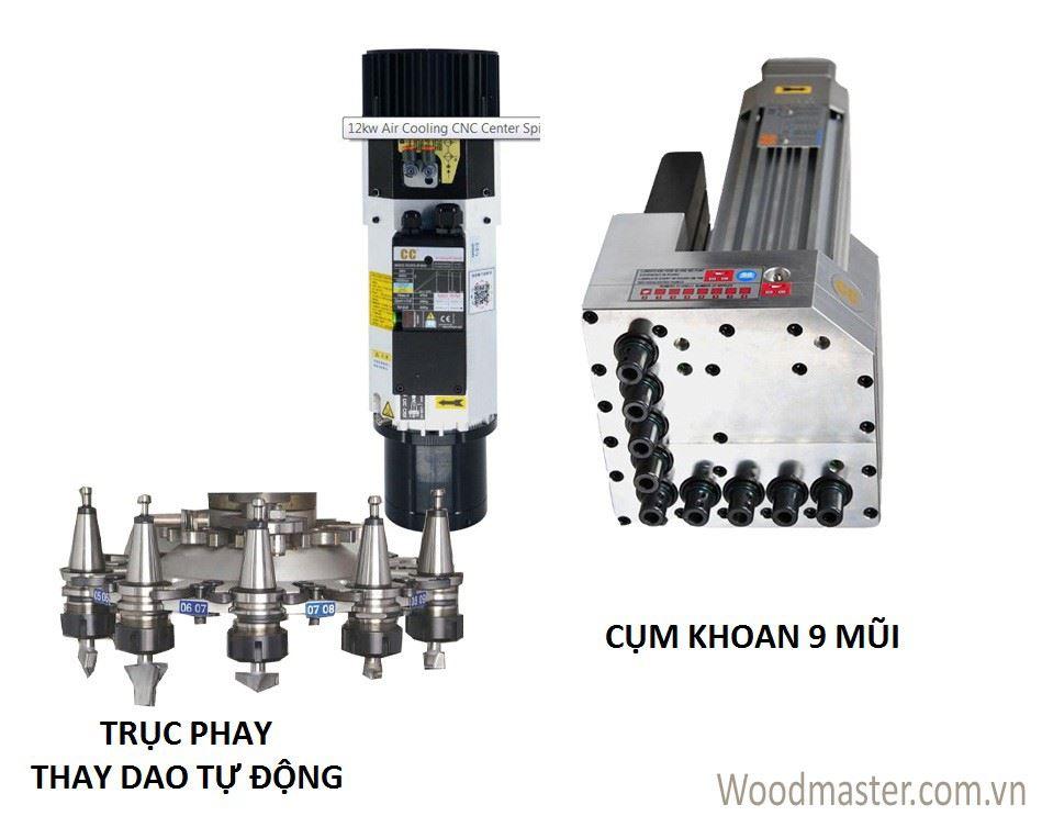 MÁY CNC NESTING 1 ĐẦU THAY DAO TỰ ĐỘNG + CỤM KHOAN (Nạp phôi tự động) PRO-R1V9F 915