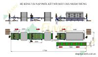 Hệ thống băng tải nạp hồi máy chà nhám thùng Fuvico 1553