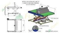 Hệ thống băng tải nạp hồi máy chà nhám thùng Fuvico 1554