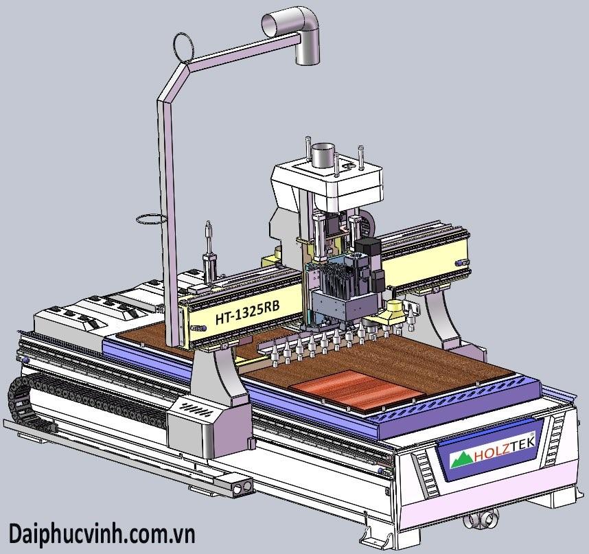 MÁY CNC TRUNG TÂM 2.5D KHOAN 5 MẶT HT-1325RB